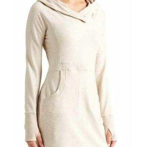 Athleta Cooldown Sweatshirt Hoodie Dress sz M